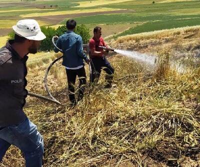 Adıyaman'da buğday tarlasında yangın