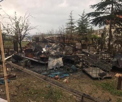 Kırıkkale'de müstakil evin bahçesinde yangın çıktı