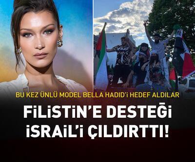 İsrail, Filistin'e destek veren Bella Hadid'i hedef aldı
