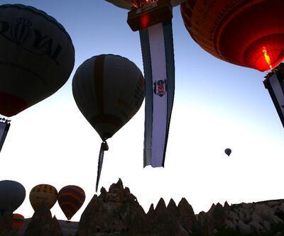 Beşiktaş bayrakları Kapadokya semalarında