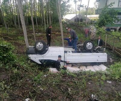 Samsun'da 2 araç devrildi; 5 yaralı