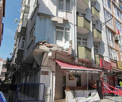 İstanbul'da 7 katlı apartmanın balkonu çöktü