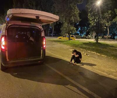 Hırsızlık şüphelileri kovalamacayla yakalandı: Çaldıkları televizyonu yere attılar