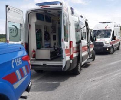 Kurbanlıkları taşıyan TIR devrildi; sürücü ve 17 hayvan öldü