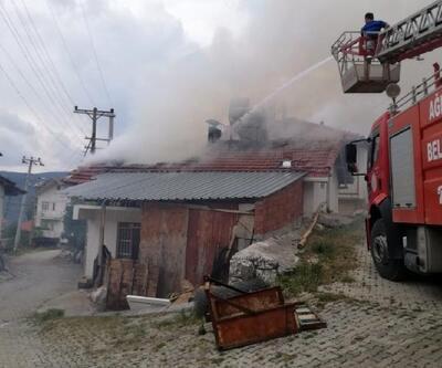 Ağlasun'da ev yangını