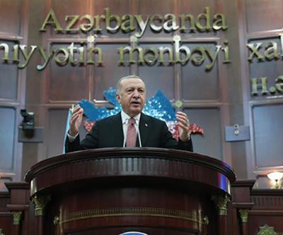 SON DAKİKA: Cumhurbaşkanı Erdoğan, Azerbaycan Milli Meclisi'ne hitap etti