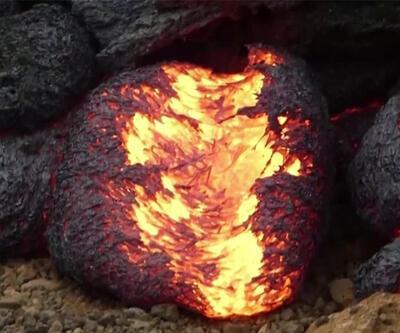 Yumurta şeklinde lav topları