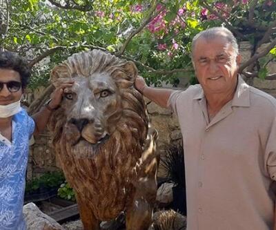 Fatih Terim evinin önüne aslan heykeli yaptırdı