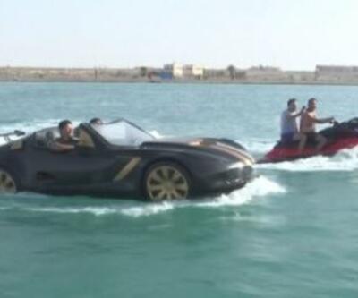 Otomobil görünümlü tekne yaptılar