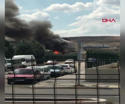 Ankara'da plastik imalat fabrikasında yangın çıktı