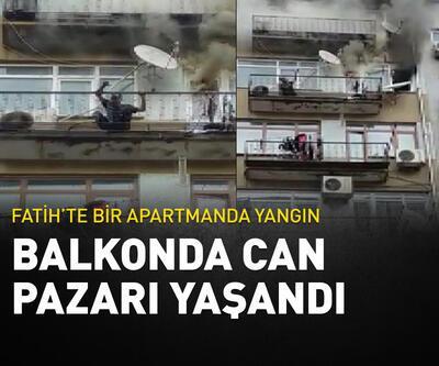 Fatih'te balkonda can pazarı