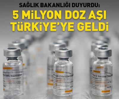 5 milyon doz Sinovac Türkiye'ye geldi