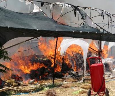 Seradaki yangın güçlükle söndürüldü: İşçiler gözyaşı döktü