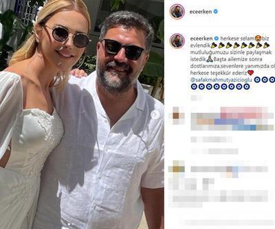 Sosyal medyadan duyurdular! Ece Erken ve Şafak Mahmutyazıcıoğlu evlendi