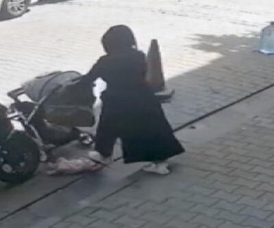 Bebek arabasındaki çocuğunu yola düşürüp, üstüne bastı