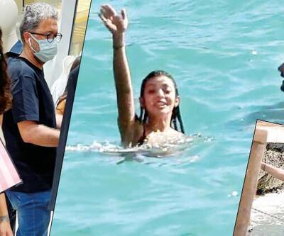 Sürpriz aşktan ilk kare... Selin Şekerci ile İbrahim Selim tatilde görüntülendi