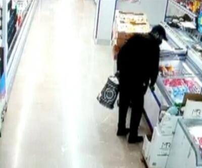 Tokatçı filmi gerçek oldu... Özel düzenekli çantayla markette hırsızlık yaptı