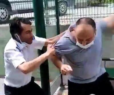 Otobüs şoförü tartıştığı yolcuyu tekme tokat dövdü