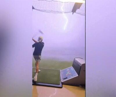 Golf topuna yıldırım çarptı