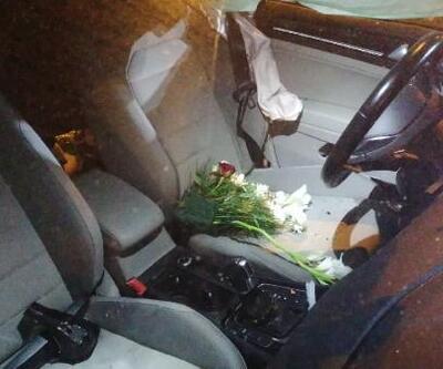 Düğün dönüşü gelin damadın bulunduğu otomobil kaza yaptı, 4 yaralı