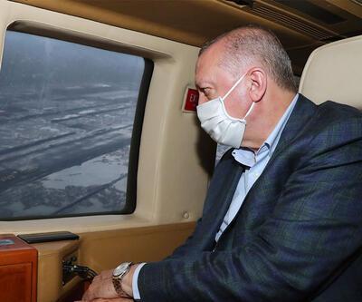 Erdoğan, Rize-Artvin Havalimanını inceledi