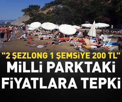 """2 şezlong 1 şemsiye 200 TL"""