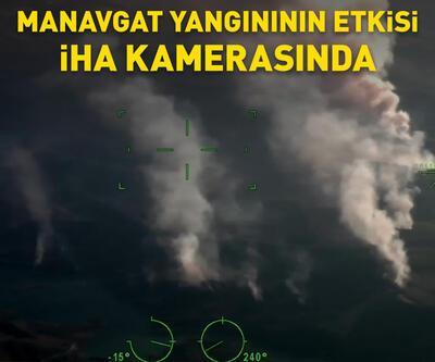 Manavgat yangınının etkisi İHA kamerasında