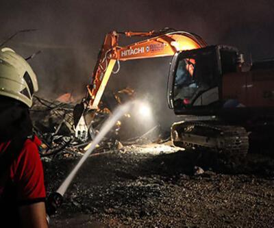 Mersin'de fabrikada çıkan yangın söndürüldü