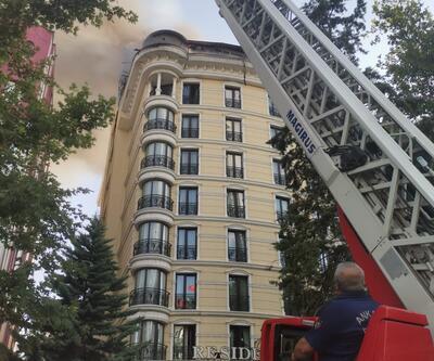 Ankara'da otelin çatısında çıkan yangın korkuttu