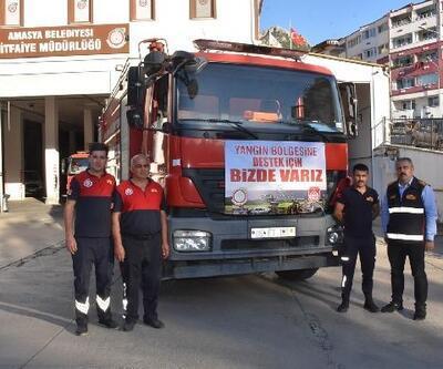 Amasya'dan Antalya'ya itfaiye ve ekip desteği