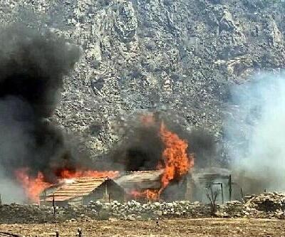 Milas yangınının ulaştığı mahallede 3 ev yandı