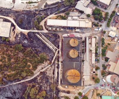 Kemerköy Termik Santrali drone ile havadan görüntülendi