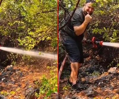 Şahan Gökbakar orman yangınının evine ulaşmadan söndürüldüğünü açıkladı