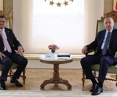 Cumhurbaşkanı Erdoğan'ın Libya Başbakanı Abdulhamid Dibeybe'yle görüşmesi sona erdi