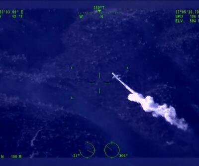 Rus uçağının 40 ton suyla müdahale etmesi İHA ile görüntülendi