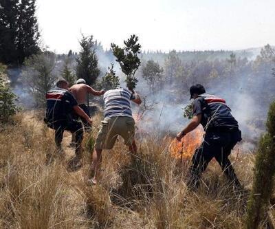 Edirne'de ATV aracındaki yangın ormana sıçradı