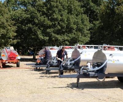 Kazdağları eteklerine yangın istasyonları kuruldu