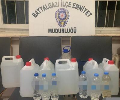 Malatya'da bin 39 litre sahte içki ele geçirildi