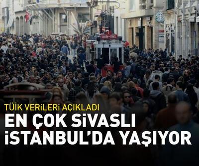 En çok Sivaslı İstanbul'da yaşıyor