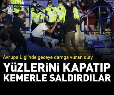 Avrupa Ligi'nde şok kavga! Kemerle saldırdılar