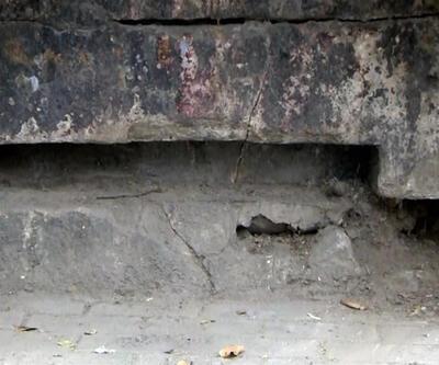 500 yıllık çeşme kaldırım kurbanı