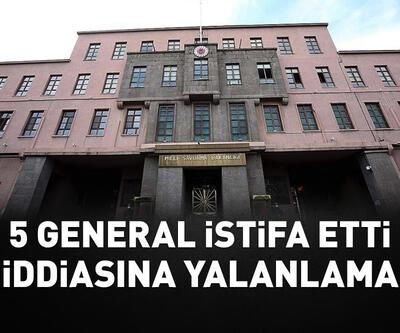 "MSB kaynakları ""5 general istifa etti"" iddiasını yalanladı"