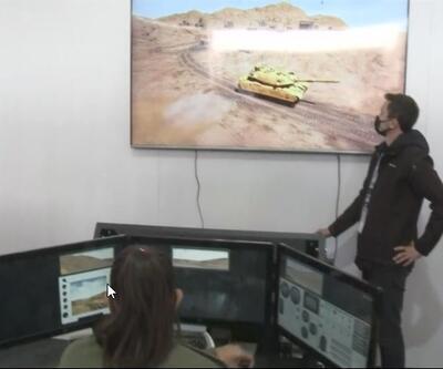 Katılımcılar tank içerisinde operasyona katılıyor