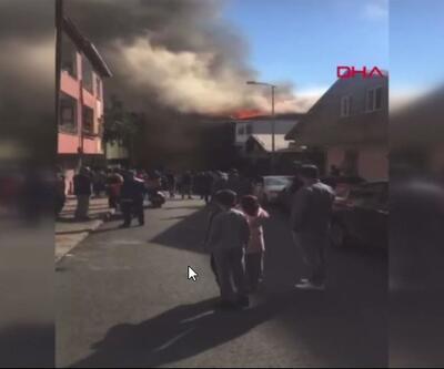 SON DAKİKA: İstanbul'da fabrika yangını