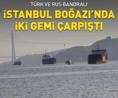 Türk ve Rus bandralı 2 yük gemisi çarpıştı
