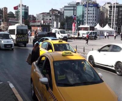 Taksim'de denetim: Bu kez uzun mesafe bahanesi