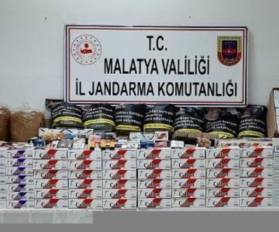 Malatya'da 5 bin 700 paket kaçak sigara ele geçirildi
