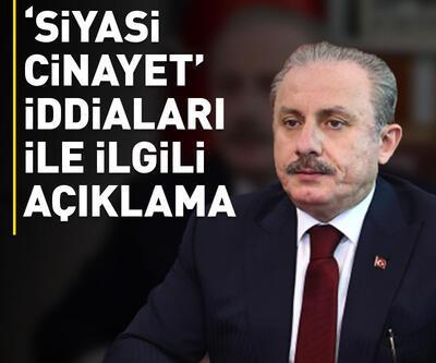 TBMM Başkanı Şentop'tan 'siyasi cinayet' iddialarıyla ilgili açıklama