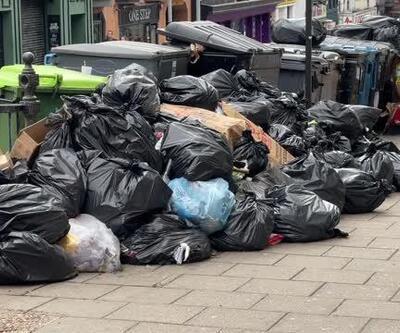 Görüntüler İngiltere'den! Çöp yığınları oluştu