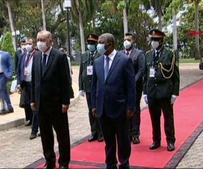 SON DAKİKA: Cumhurbaşkanı Erdoğan Angola'da resmi törenle karşılanıyor